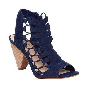 Vince Camuto Navy Blue Eliaz Sandals - Size: 8M